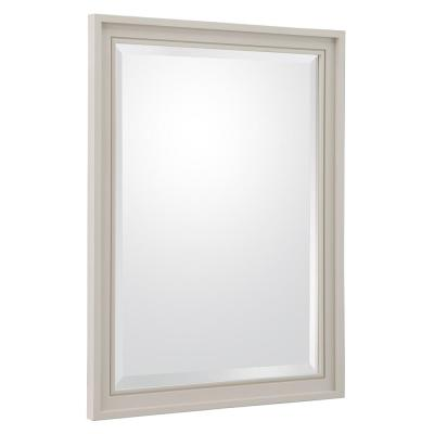 Shaelyn 24 in. W x 32 in. H Single Framed Wall Mirror in Rainy Day