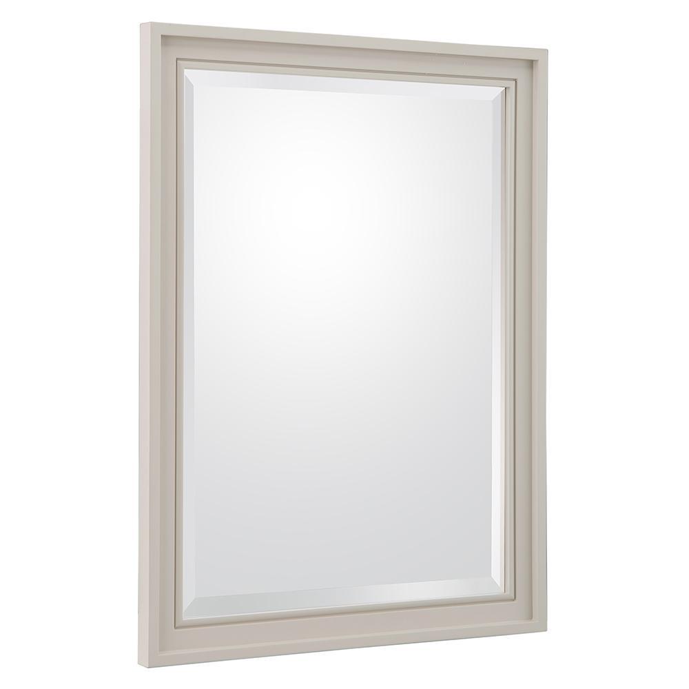 Shaelyn 24 in. W x 32 in. H Single Framed Wall Mirror in Rainy Day