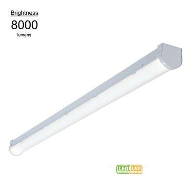 8 ft. Linear White Integrated LED Warehouse Strip Light with 8176 Lumens, 4000K, UNV Voltage