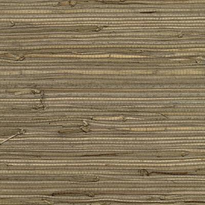 72 sq. ft. Anhui Brown Grass Cloth Wallpaper