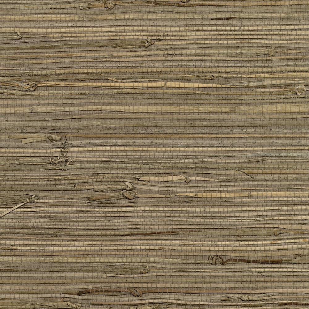 72 sq. ft. Anhui Brown Grass Cloth Wallpaper