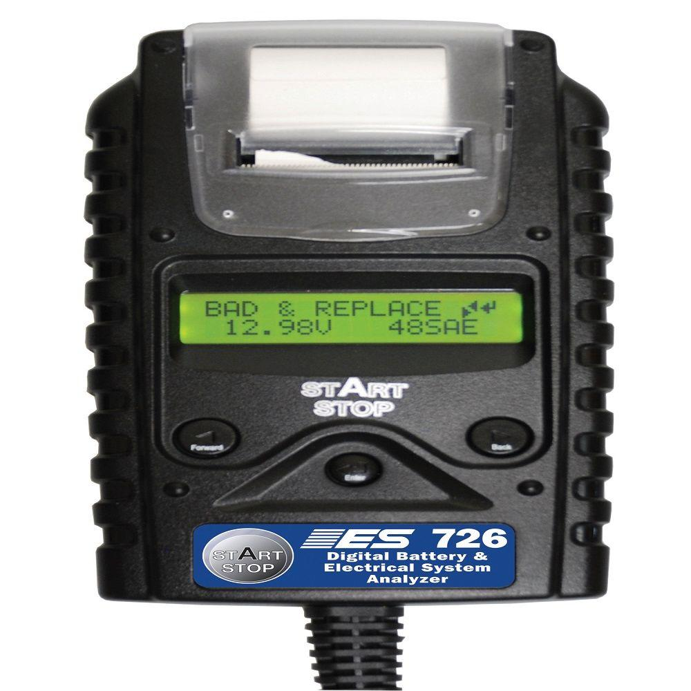Digital Battery Electrical System Tester With Printer