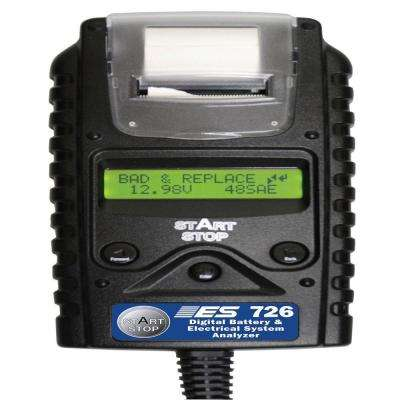 Digital Battery/Electrical System Tester with Printer