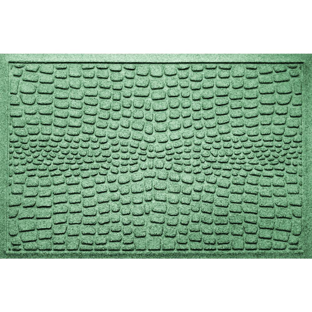 Alligator Light Green 24 in x 36 in Polypropylene Door Mat