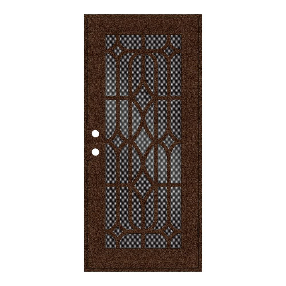 unique home designs 32 in x 80 in essex copperclad right hand surface mount security door with. Black Bedroom Furniture Sets. Home Design Ideas