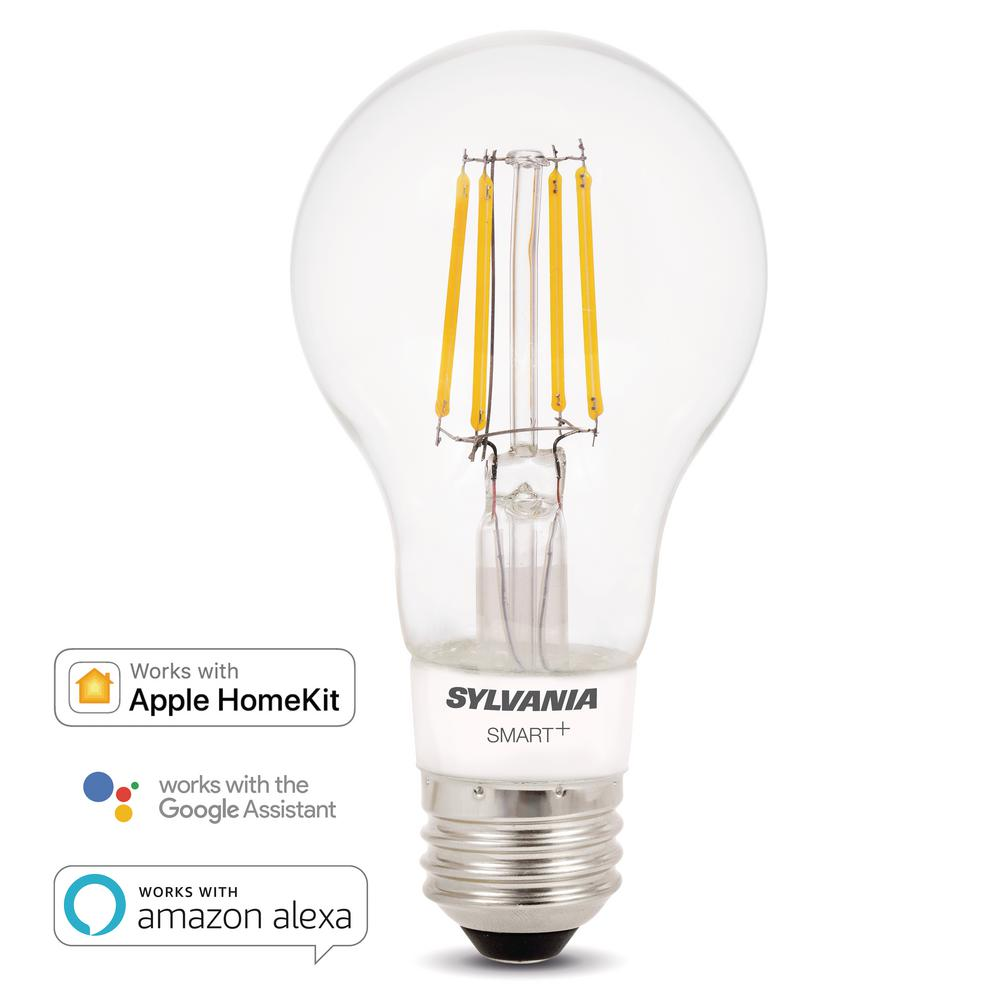 Ecosmart 40w Equivalent Soft White A19 Dimmable Filament: Sylvania SMART+ Bluetooth 40W Equivalent Soft White