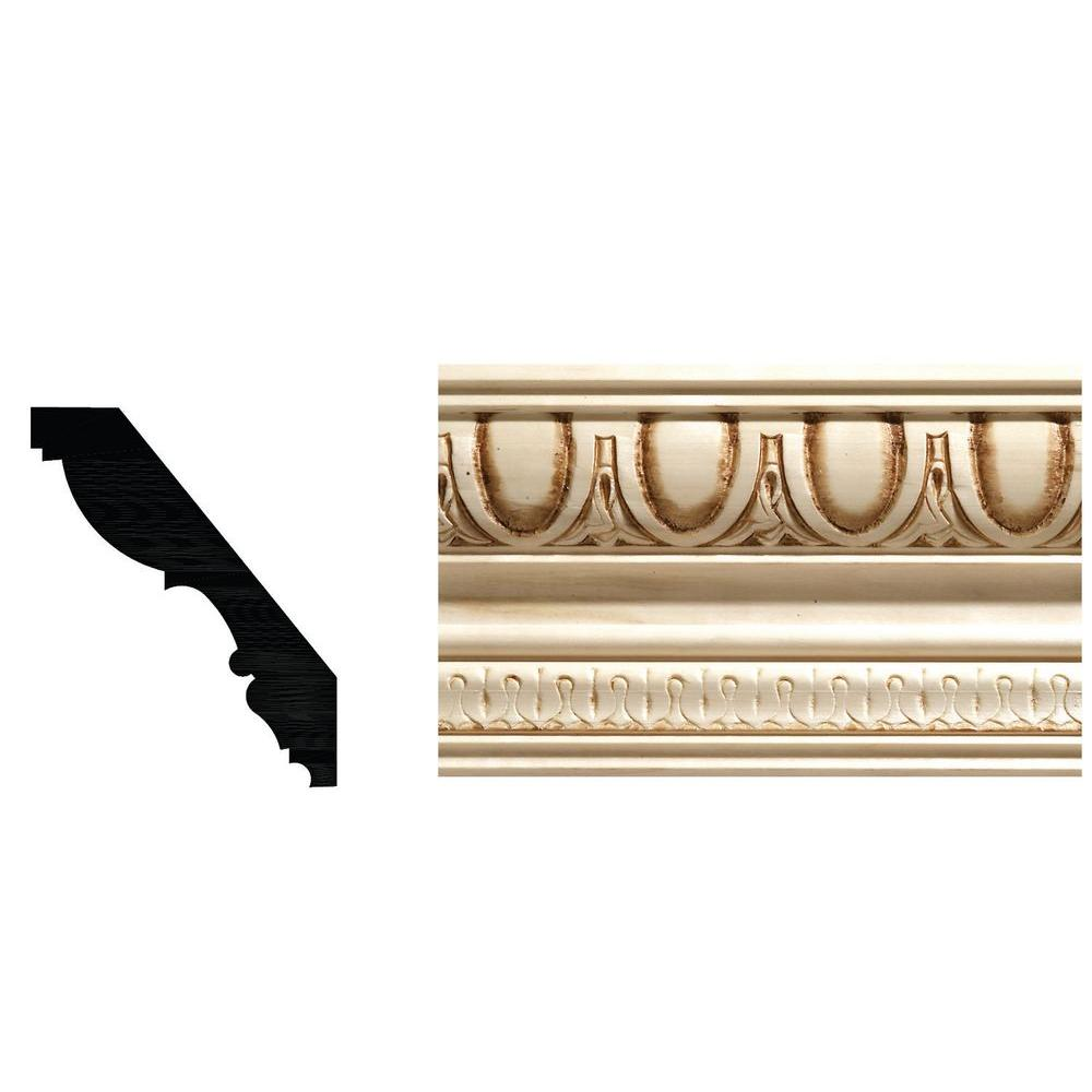 Ornamental Mouldings 27 32 In X 4 1 2 In White Hardwood Egg And