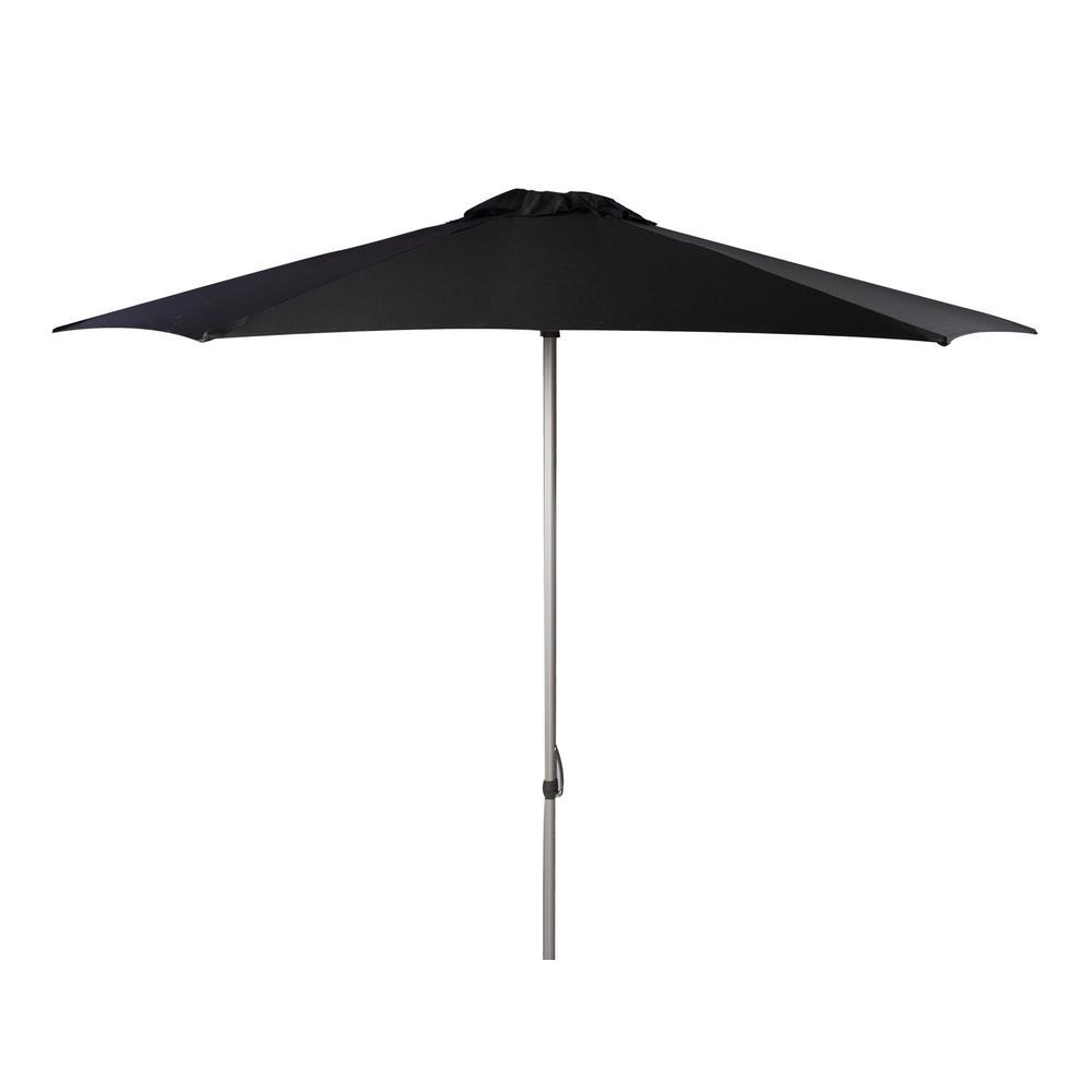Safavieh Hurst 9 ft. Aluminum Market Patio Umbrella in Black