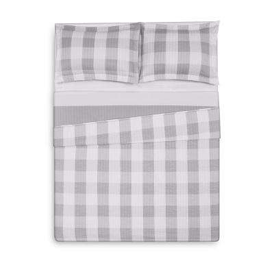 Everyday Buffalo Plaid Grey Full / Queen Quilt Set