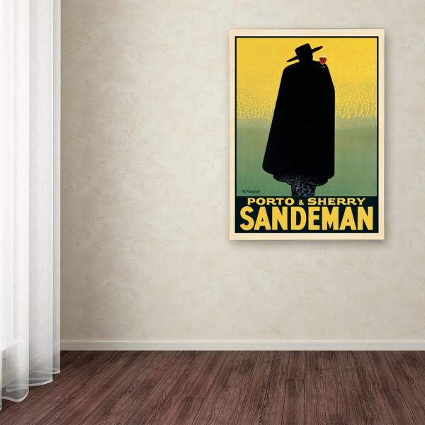 """Trademark Fine Art 47 in. x 35 in. """"Porto and Sherry Sandeman"""" Printed Canvas Wall Art"""
