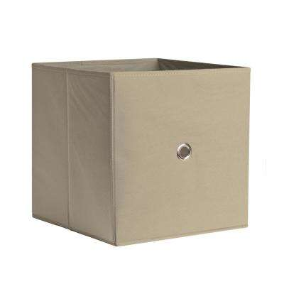 Full Fabric Drawer 12.5 in. x 12.5 in. Sand Fabric Storage Bin