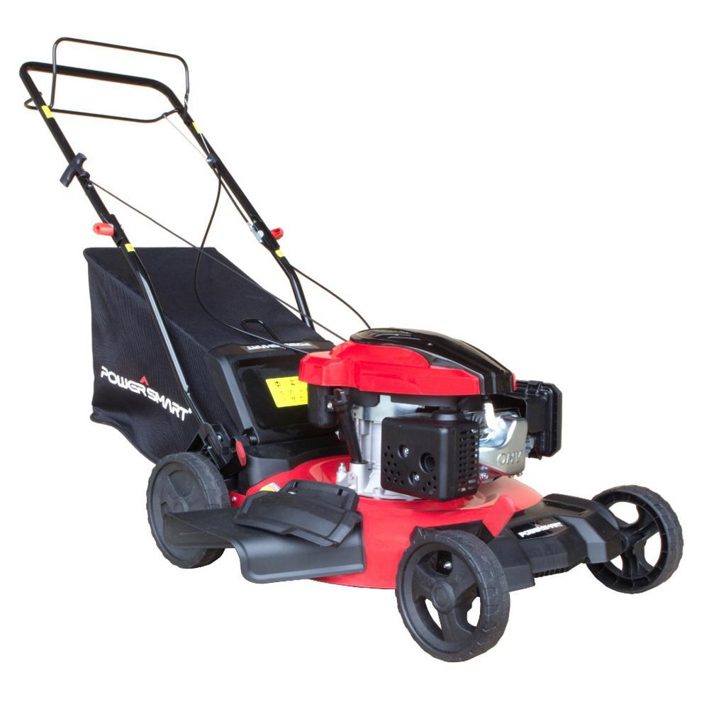 21 in. 3-in-1 159cc Gas Self Propelled Walk Behind Lawn Mower