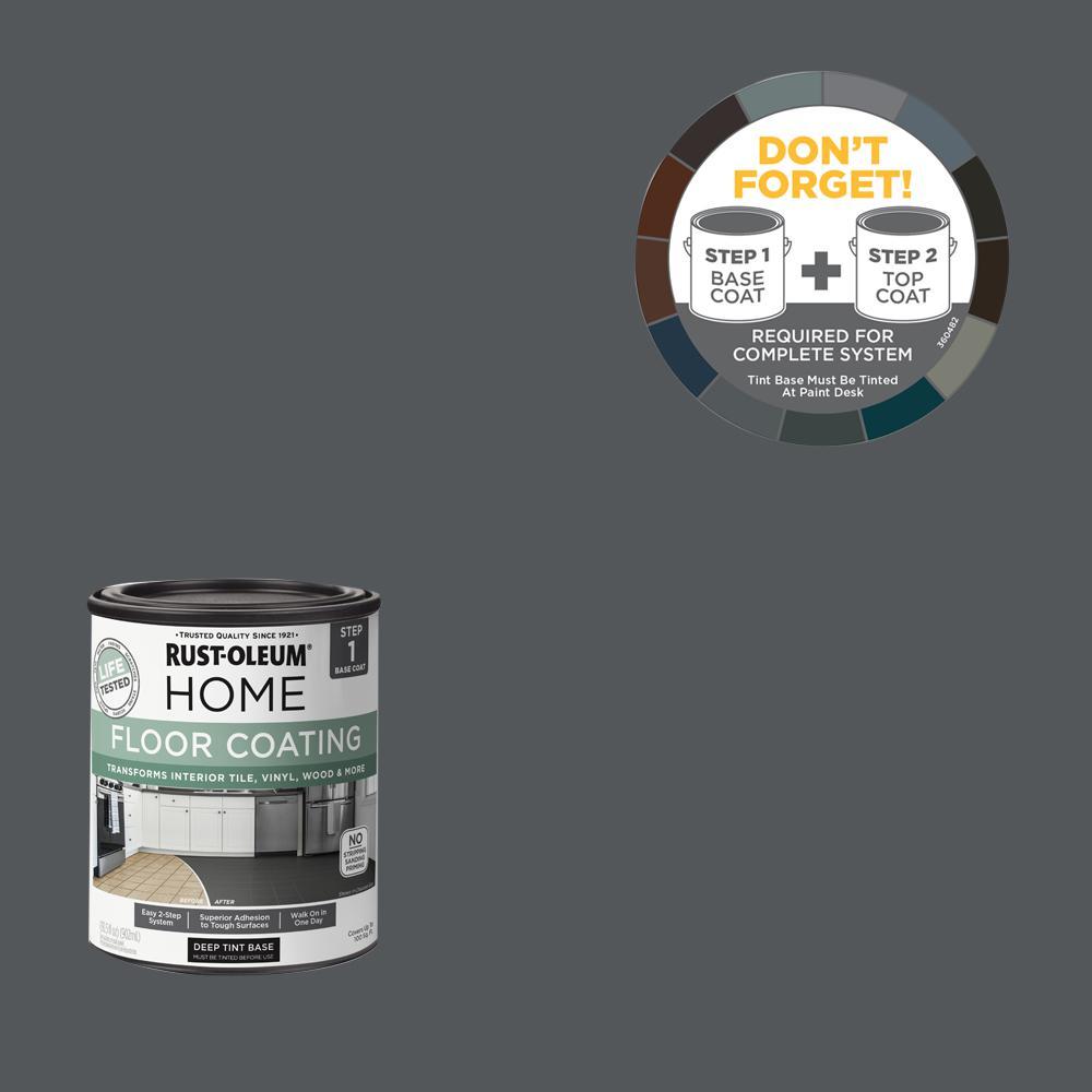 Rust-Oleum Home 1 qt. Charcoal Gray Interior Floor Base Coating