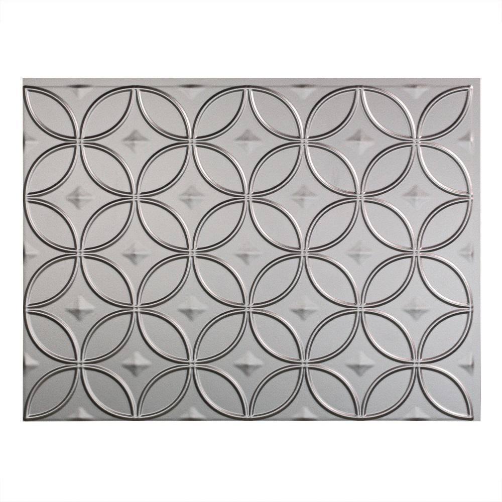 Fasade 24 In X 18 In Rings Pvc Decorative Backsplash
