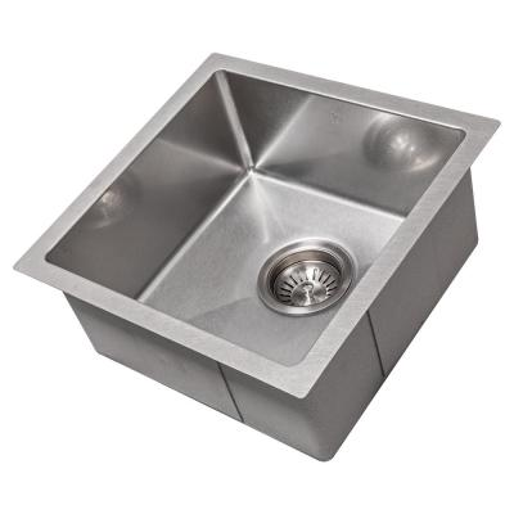 ZLINE 15 in. Boreal Undermount Single Bowl Bar Sink in DuraSnow®Stainless Steel