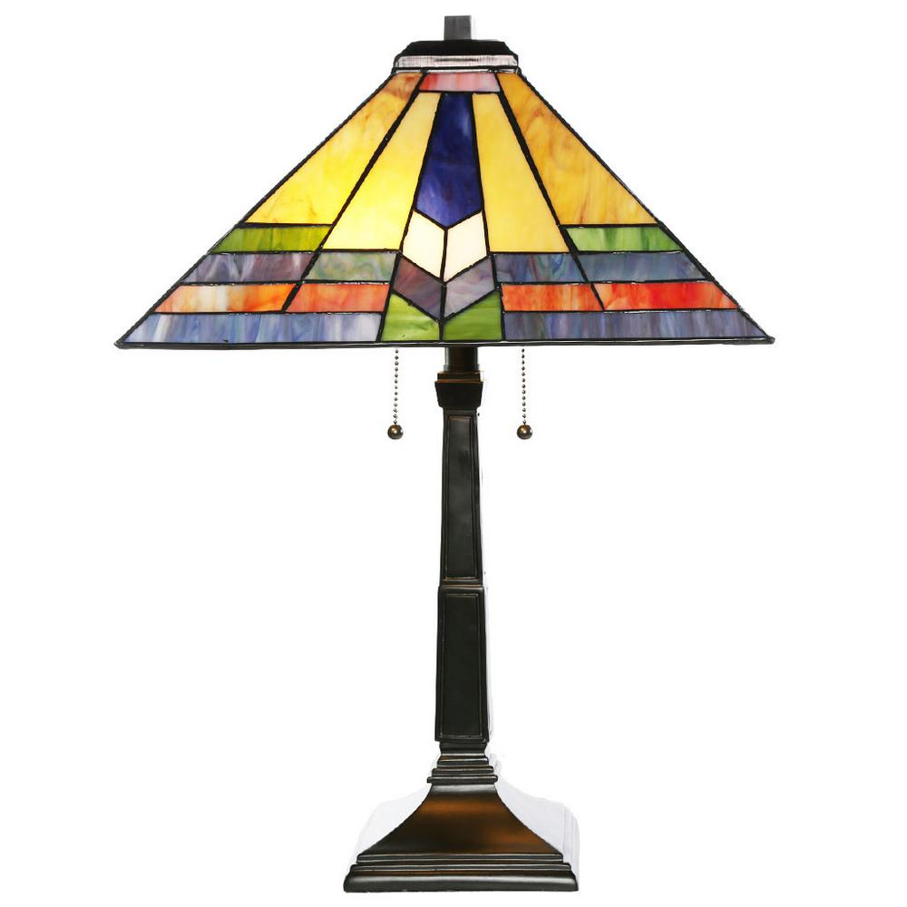 Western lamp shades for table lamps lighting compare prices at h multi colored table lamp with s aloadofball Gallery
