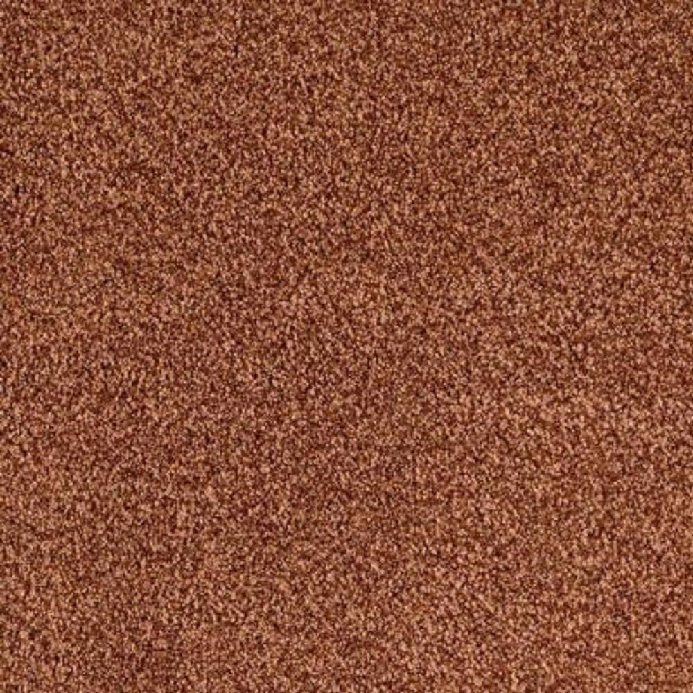 Carpet Sample - Lavish I - Color Georgia Clay Texture 8 in. x 8 in.