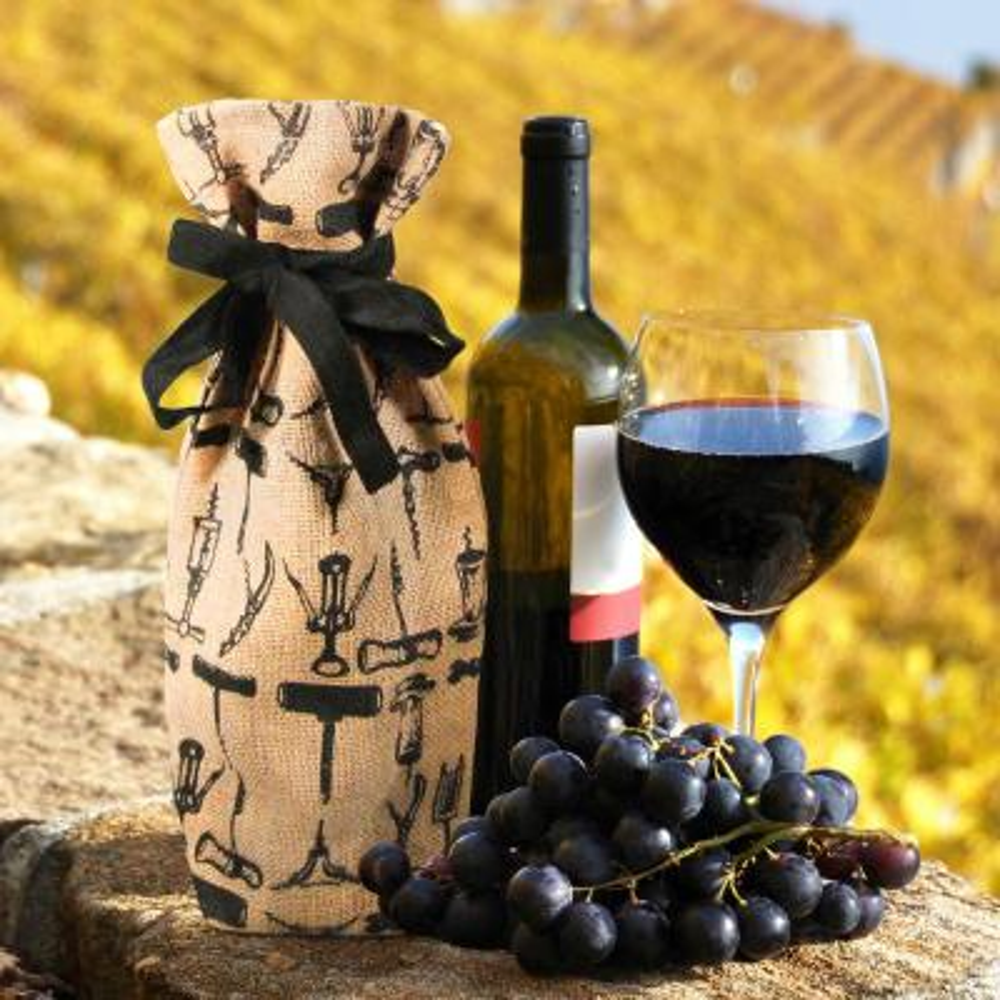 Jute Wine Bag (4-Pack)