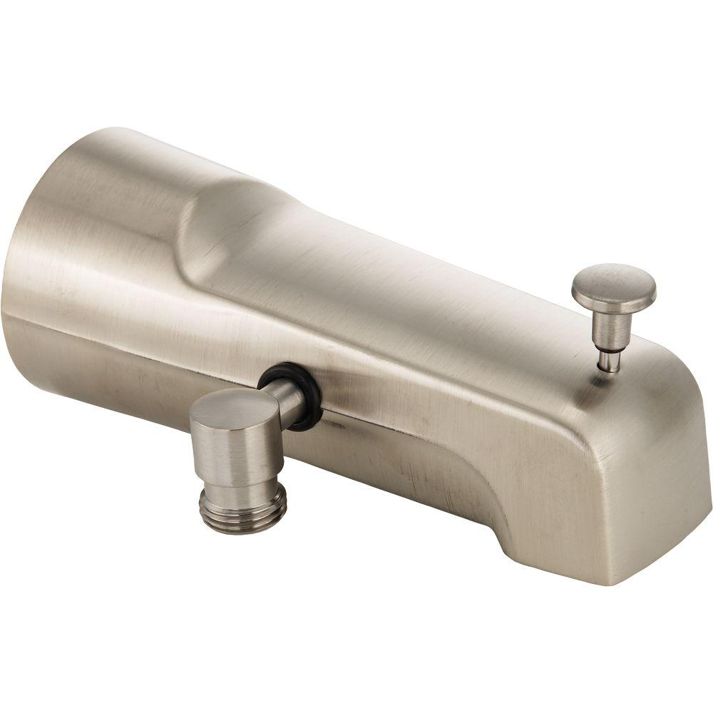 Delta Pull-Up Diverter Tub Spout in Stainless-U1010-SS-PK - The Home ...