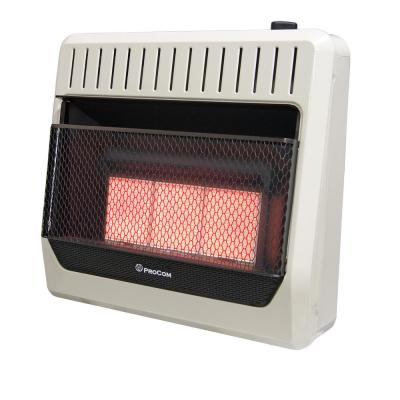 30000 BTU Ventless Dual Fuel Radiant Heater with Thermostat Control