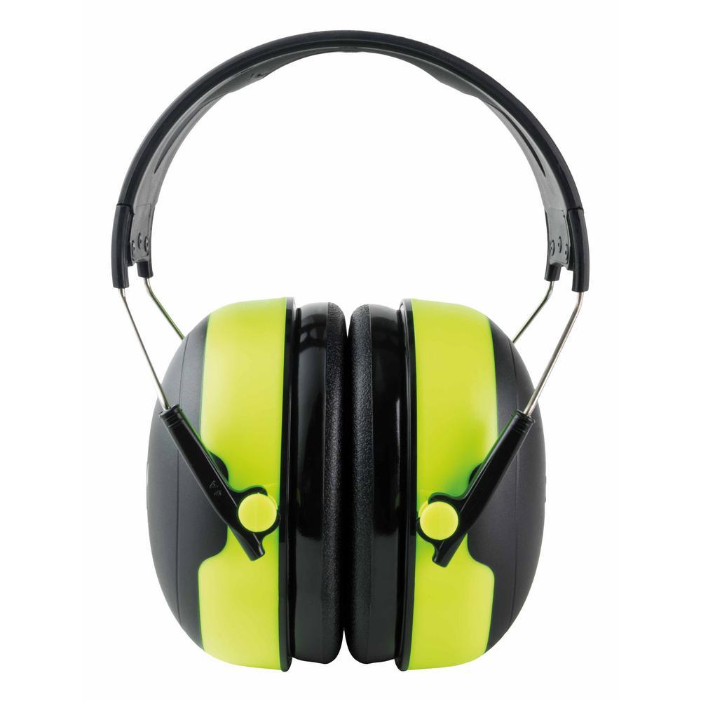 Pro-Grade Hi-Viz Green Earmuff