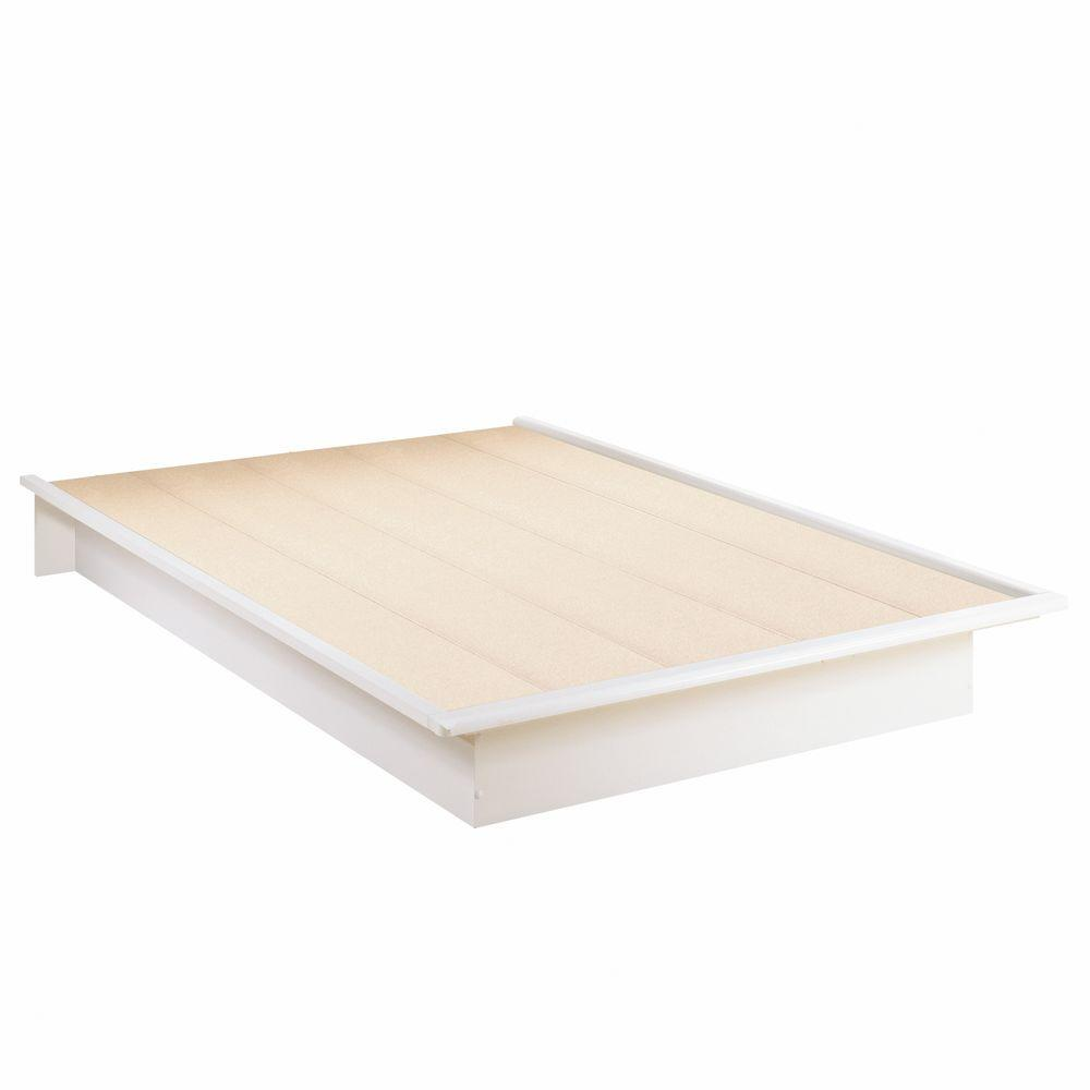 South S Step One Full Size Platform Bed In Pure White