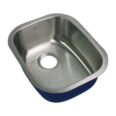 Meridian Undermount Stainless Steel 18.5 in. Single Bowl Kitchen Sink in Brushed Stainless Steel