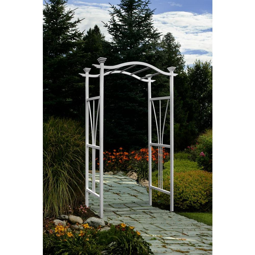 Eden Arbors 86.5 in. x 45 in. Vinyl London Arbor