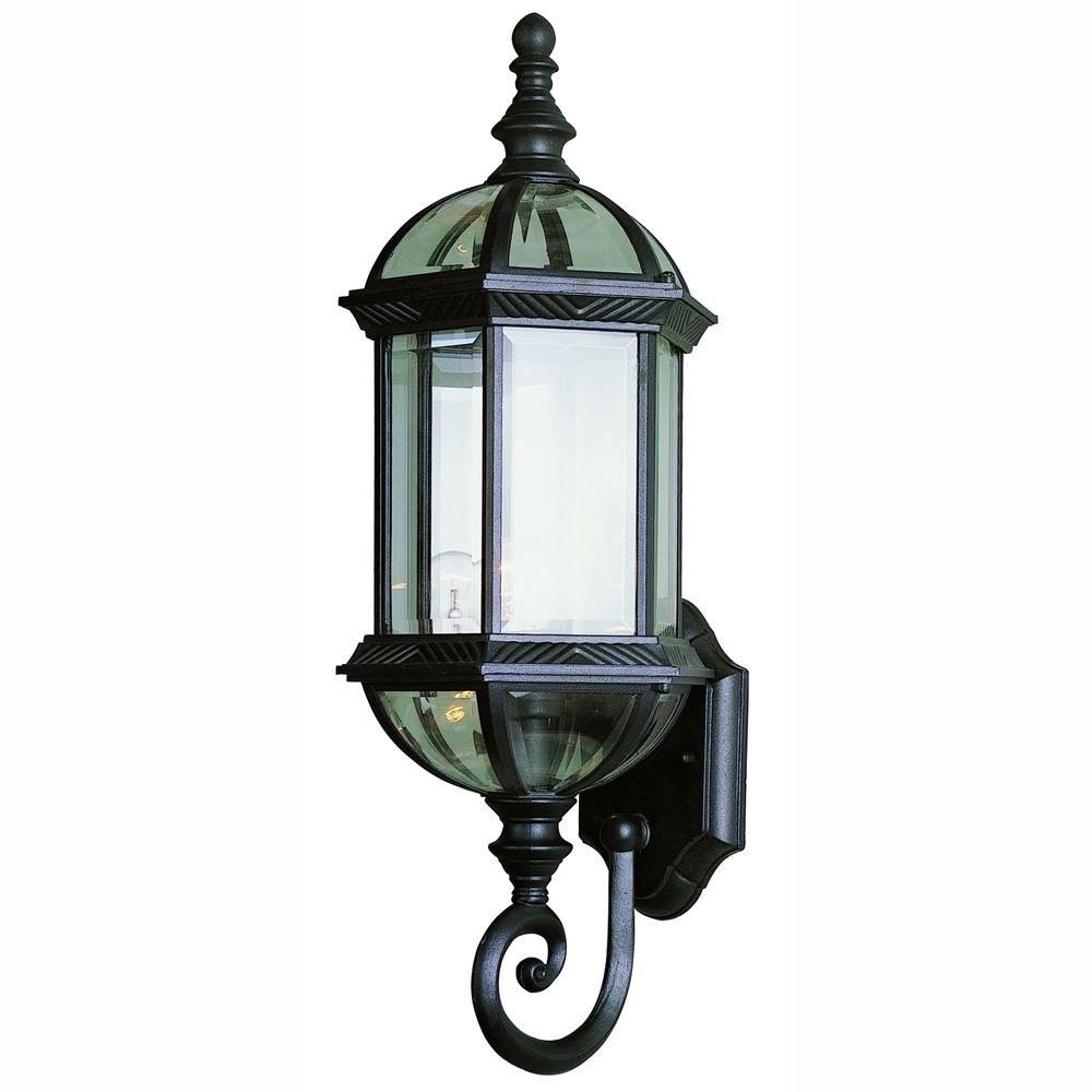 Home Depot Garage Lights Outdoor: Bel Air Lighting 1-Light Black Coach Outdoor Wall Mount
