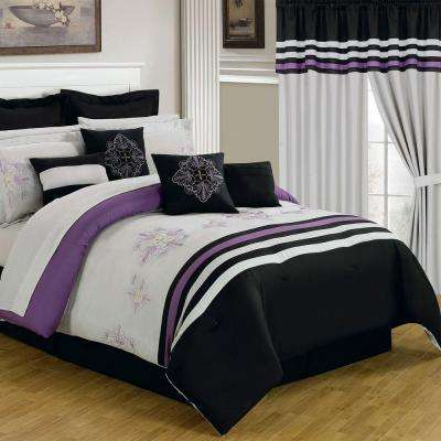 Rachel Black 24-Piece Queen Comforter Set