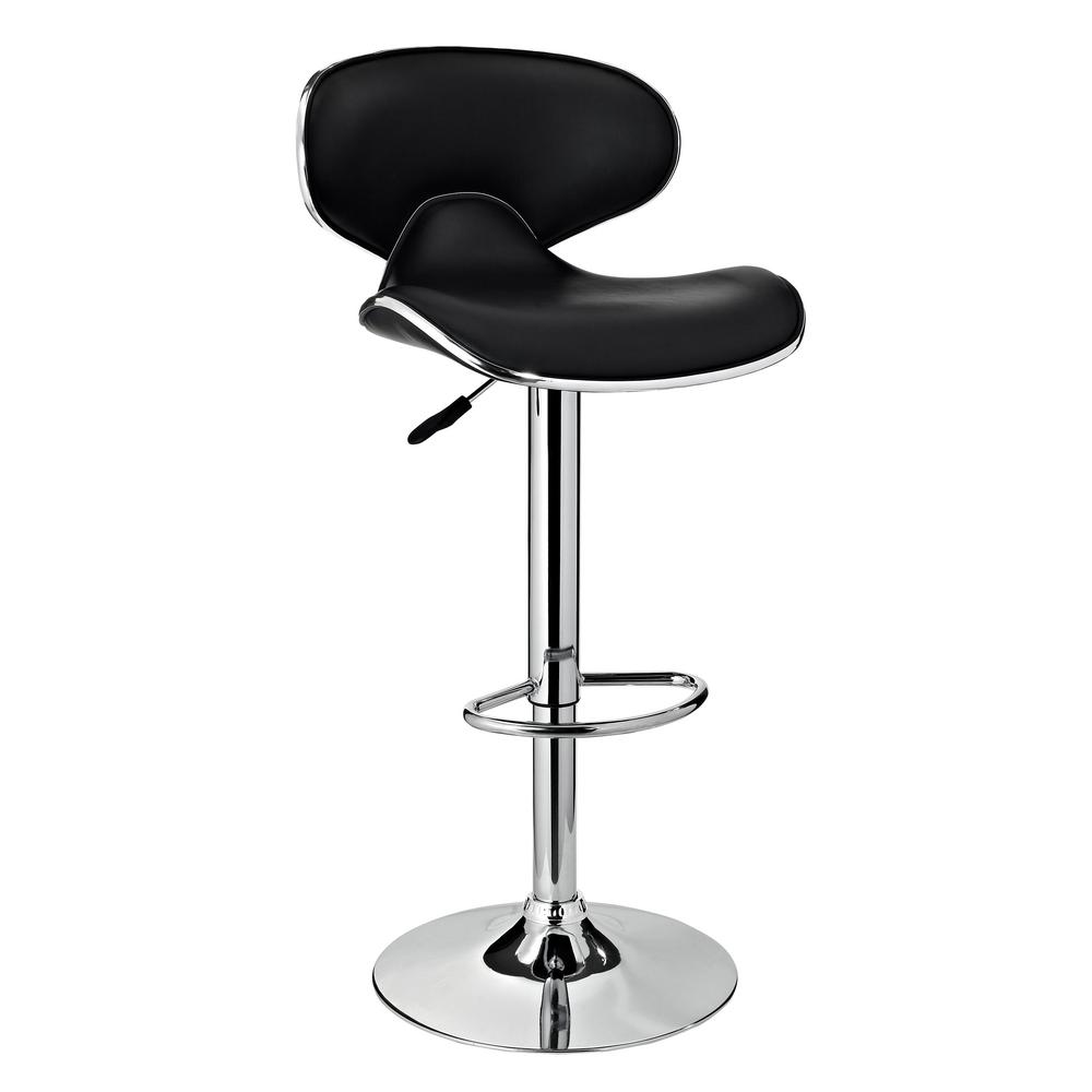 Prime 32 In Adjustable Height Black And Chrome Bar Stool Andrewgaddart Wooden Chair Designs For Living Room Andrewgaddartcom