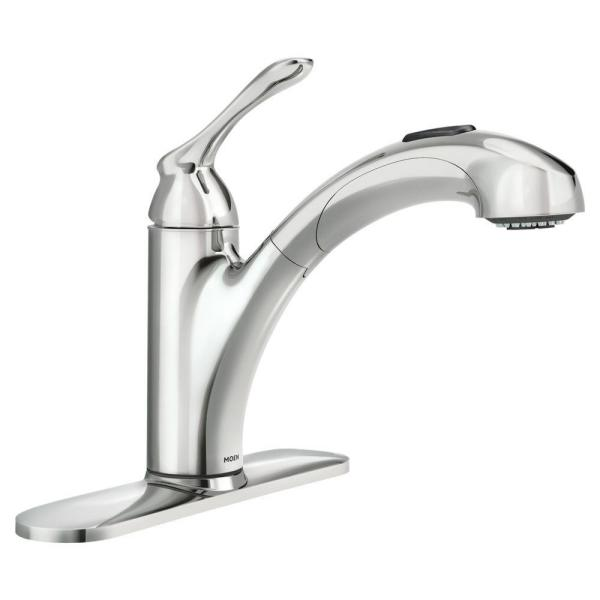 Banbury Single-Handle Pull-Out Sprayer Kitchen Faucet with Power Clean in Chrome