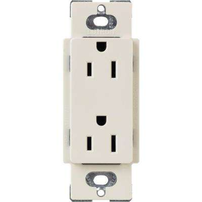 Tamper-Resistant Duplex Receptacle, 15-Amp, Light Almond