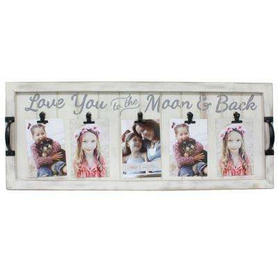 Mulkey Love You To The Moon 4 in. x 6 in. White Collage Picture Frame
