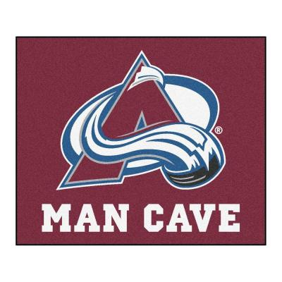 Colorado Avalanche Red Man Cave 5 ft. x 6 ft. Area Rug