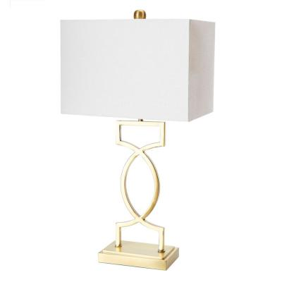 Estelle 24.5 in. Gold Table Lamp with Linen Shade