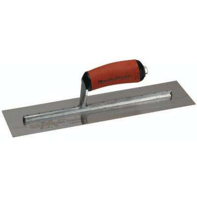 10 in. x 3 in. Curved Durasoft Handle Finishing Trowel