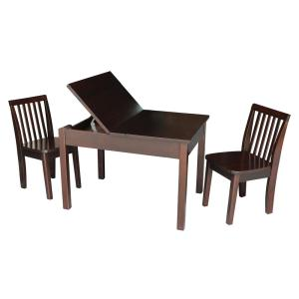 Fantastic International Concepts 3 Piece Mocha Childs Lift Top Dailytribune Chair Design For Home Dailytribuneorg