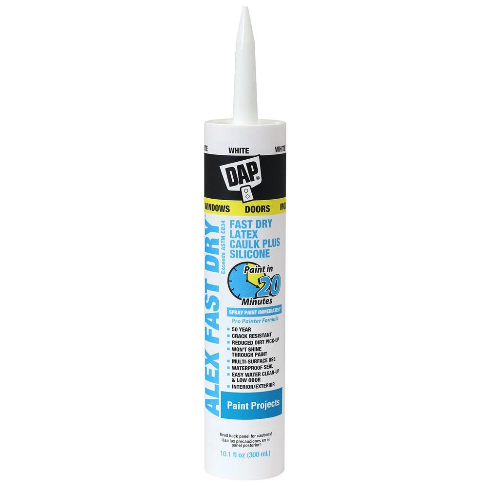 DAP 10.1 oz. Alex Fast Dry White Acrylic Latex Plus Silicone Caulk