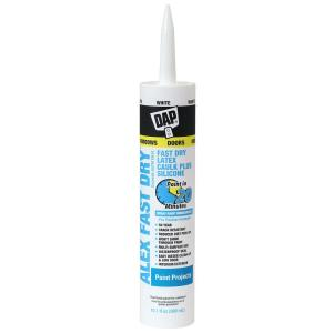10.1 oz. Alex Fast Dry White Acrylic Latex Plus Silicone Caulk