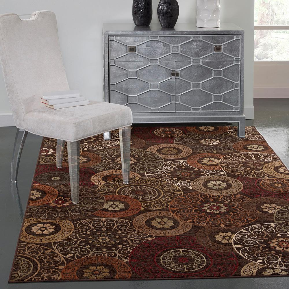 Sams international sonoma lundy rust 5 ft 3 in x 7 ft 6 for International decor bathroom rugs