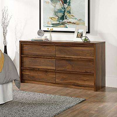 Harvey Park 6-Drawer Grand Walnut Dresser