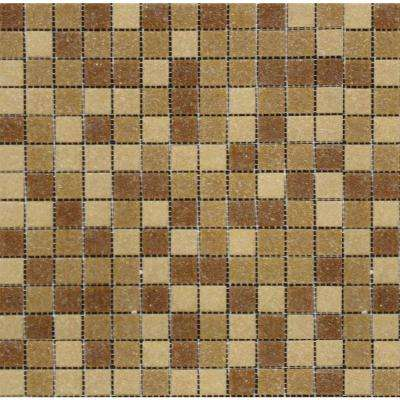 Canyon Vista 12 in. x 12 in. x 4 mm Glass Mesh-Mounted Mosaic Tile