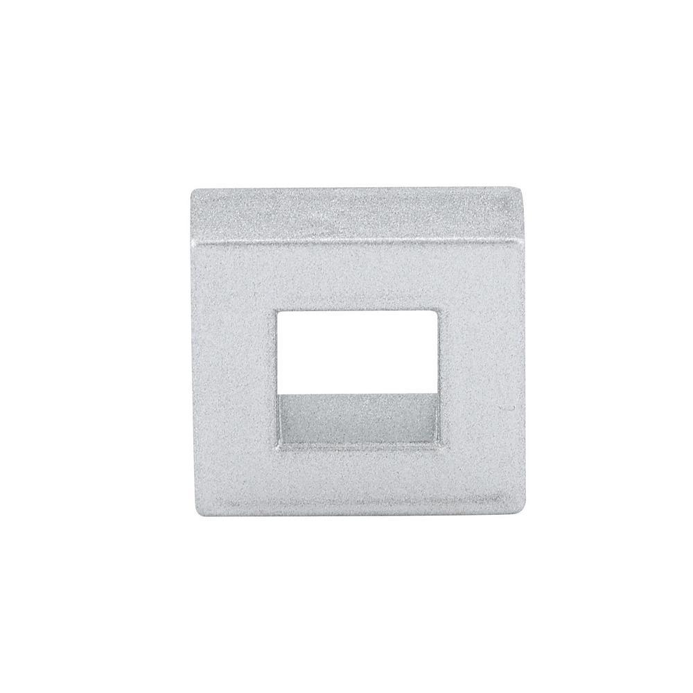 Contemporary 31/32 in. (25 mm) Matte chrome Square Cabinet Knob