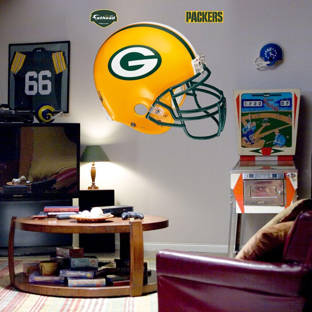 Fathead 57 in. x 51 in. Green Bay Packers Helmet Wall Decal