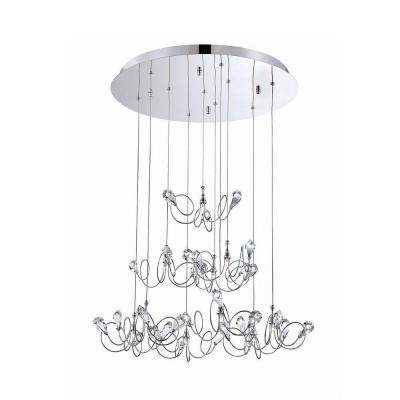 Volare Collection 10-Light Chrome and Clear Pendant