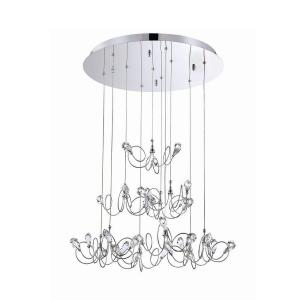 volare collection 10light chrome and clear pendant