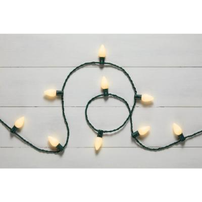 32.66 ft. 50-Light LED Smooth C9 Warm White String Light