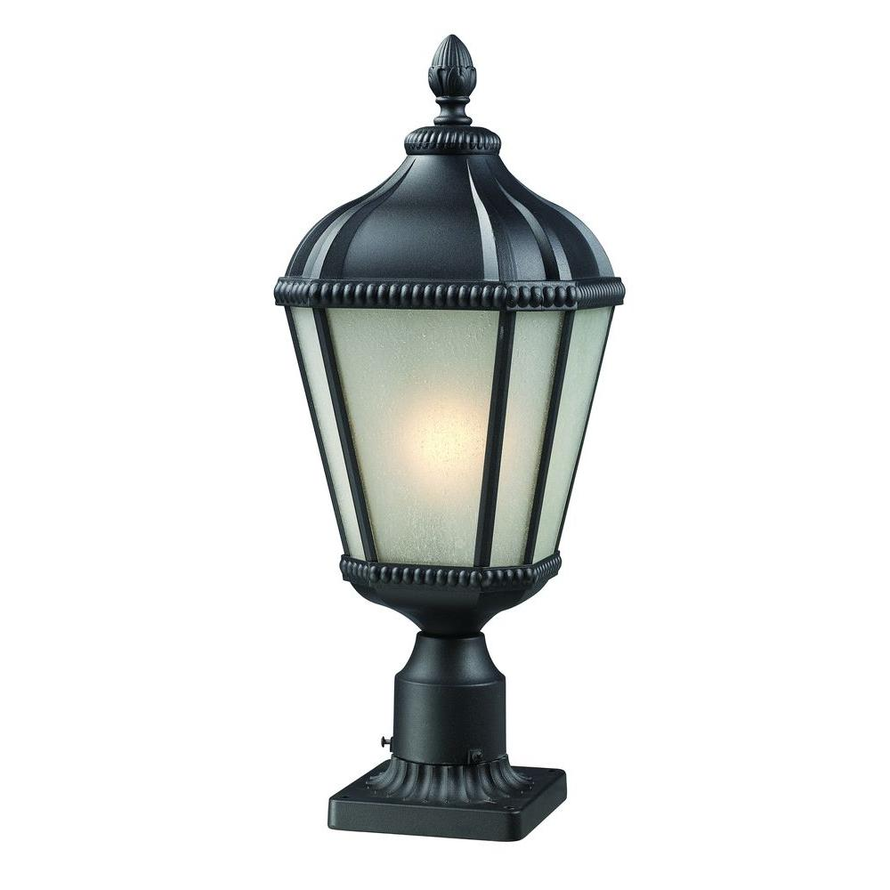Lawrence Collection 1-Light Outdoor Black Post Light
