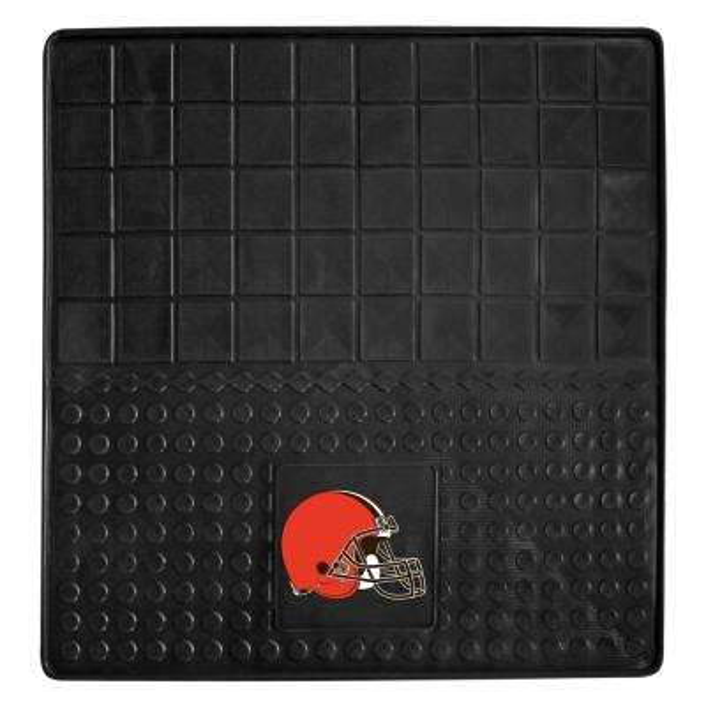 NFL Cleveland Browns Heavy Duty Vinyl 31 in. x 31 in. Cargo Mat